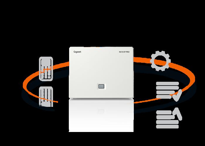 Výkonná komunikační základna navržená pro potřeby produktivní malé kanceláře. Gigaset N510 IP PRO zvládne podpořit až 6 SIP účtů, 6 sluchátek a 4 hovory zároveň díky bohaté sadě funkcí firemní komunikace.
